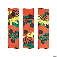 Satin Ladybugs Party Participant Ribbons