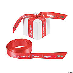 Satin Personalized Coral Ribbon - 5/8""