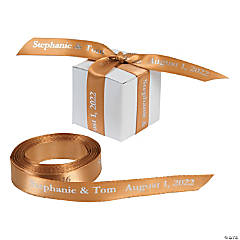 Satin Personalized Gold Ribbon - 5/8""