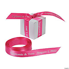 Satin Personalized Hot Pink Ribbon - 5/8