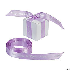 Satin Personalized Lavender Ribbon - 5/8""