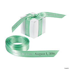 Satin Personalized Mint Green Ribbon - 5/8