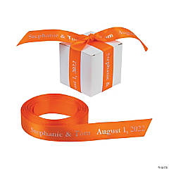 Satin Personalized Orange Ribbon - 5/8