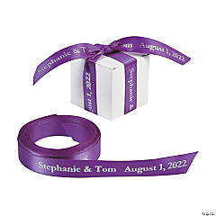 Satin Personalized Purple Ribbon - 5/8""