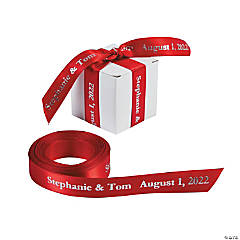 Satin Personalized Red Ribbon - 5/8""