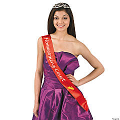 "Satin Red ""Homecoming Court"" Sash"