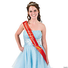 "Satin Red ""Homecoming Queen"" Sash"