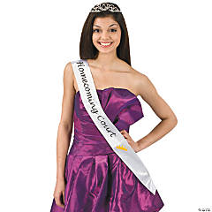 "Satin White ""Homecoming Court"" Sash"