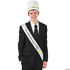 "Satin White ""Homecoming King"" Sash"