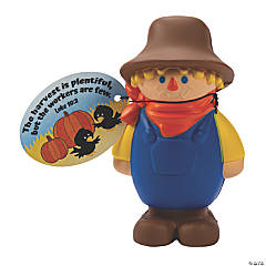 Scarecrow Slow-Rising Squishies with Religious Card