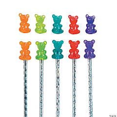 Scented Gummy Teddy Bear Pencil Toppers