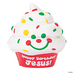 Scented Happy Birthday Jesus Cupcake Slow-Rising Squishies