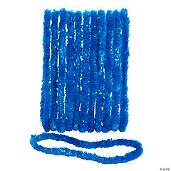 School Spirit Blue Plastic Leis