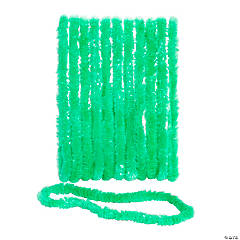 School Spirit Green Plastic Leis