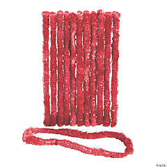 School Spirit Red Plastic Leis