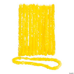 School Spirit Yellow Plastic Leis