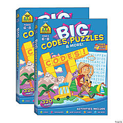 School Zone® Big Codes, Puzzles & More Workbook, Pack of 2