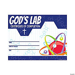 Science VBS Certificates of Completion