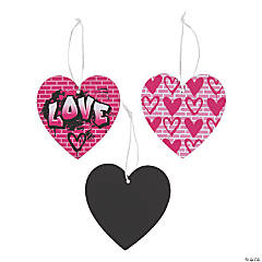 Scratch 'N Reveal Graffiti Heart Ornaments