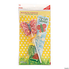 Scripture Candy™ New Life in Jesus Butterfly Lollipop & Bookmark