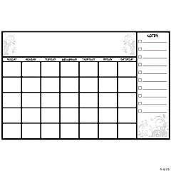 Scroll Dry Erase Calendar Peel & Stick Decal