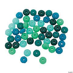 Sea Aqua Rondelle Beads - 8mm