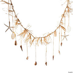 Sea Shell Garland with Raffia