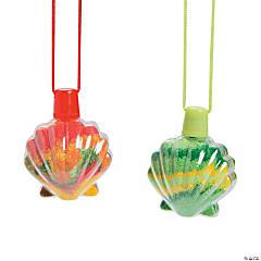Sea Shell Sand Art Bottle Necklaces - 12 Pc.