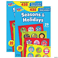 Seasons & Holidays Stinky Stickers® Variety Pack, 435 Per Pack, 2 Packs