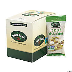 SECOND NATURE Roasted Pistachios Nuts, 1.5 oz, 12 Count