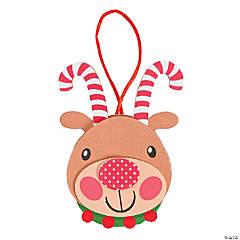 Self-Adhesive Foam Candy Cane Antler Reindeer Ornament Craft Kit