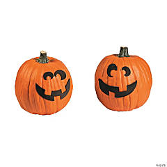 Self-Adhesive Foam Jack-o'-Lantern Pumpkin Decorating Craft Kit