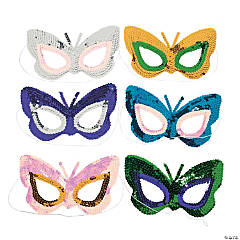 Sequin Butterfly Masks
