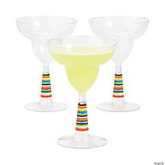 Serape Plastic Margarita Glasses