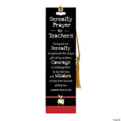 Serenity Prayer for Teachers Laminated Bookmark with Pin