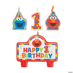 Sesame Street® Elmo Turns One Candle Set