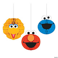 Sesame Street® Honeycomb Hanging Decorations