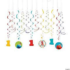 Sesame Street® Elmo Turns One Hanging Swirl Decorations - 12 Pc.