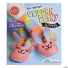 Sew Your Own Unicorn Bunny Slippers Book Kit