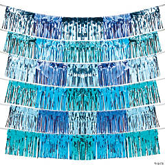 Shades of Blue Fringe Garland Backdrop