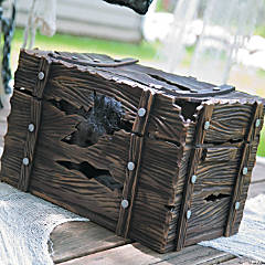 Shaking Pirate Treasure Chest Halloween Decoration