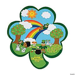 Shamrock-Shaped St. Patrick's Day Sticker Scenes