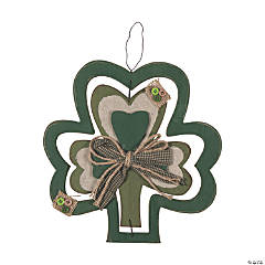 Shamrock Wall Decoration with Bow