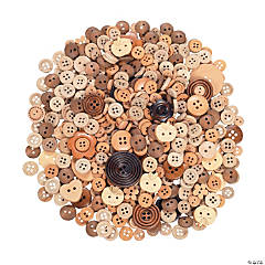 Shaped Wooden Button Assortment