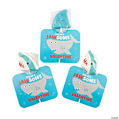 Shark Lollipops with Valentine's Day Card