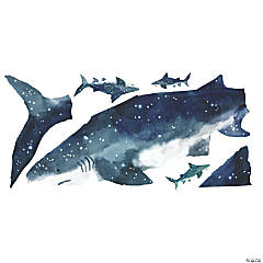 Shark Peel And Stick Giant Wall Decals
