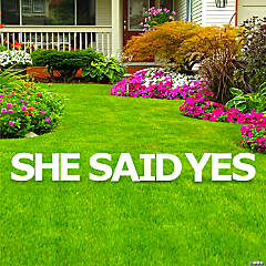 She Said Yes Letters Yard Sign