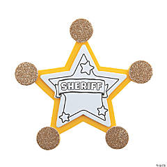Sheriff Badge Pin Craft Kit