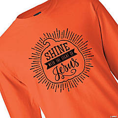 Shine with the Light of Jesus Adult's T-Shirt - Extra Large