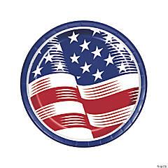 Shining Flag USA Dinner Plates